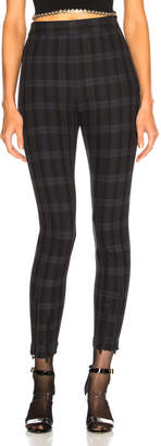 Alexander Wang Plaid Fitted Legging
