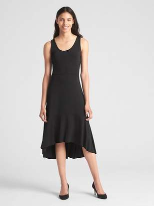 Gap Peplum Hem Midi Dress in Ponte