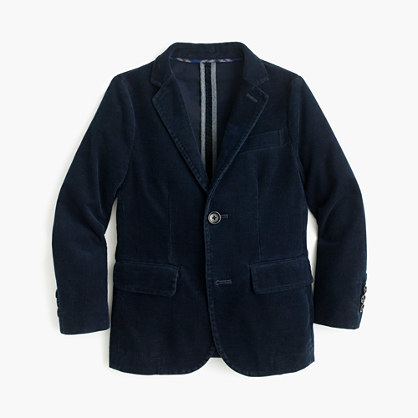 J.Crew Boys' unconstructed Ludlow blazer in corduroy