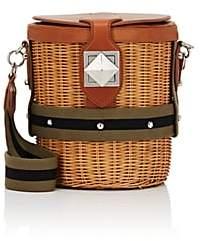 Sonia Rykiel Women's Le Jardin Wicker & Leather Bucket Bag - Neutral