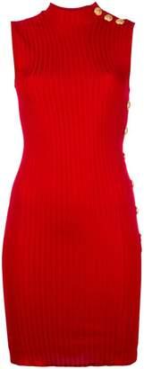 Balmain ribbed sleeveless dress