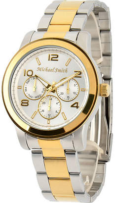 JCPenney FINE JEWELRY Personalized Dial Two-Tone Stainless Steel Watch