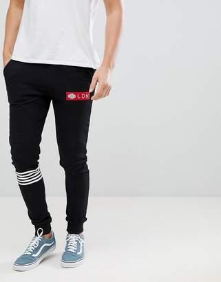 Divine Side Stripe Slim Fit Tracksuit Joggers