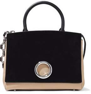 Alexander Wang Suede And Textured-Leather Shoulder Bag