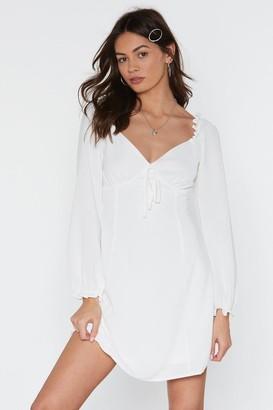 Nasty Gal Womens True Romance Cupped Mini Dress - White - 6, White