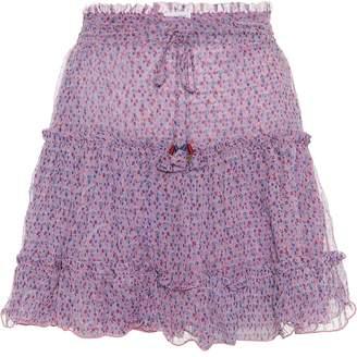 88c9acd41b Poupette St Barth Clara printed chiffon miniskirt
