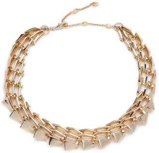 Alexis Bittar Golden Futurist Link Necklace Orf7ZUshm