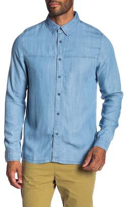 NATIVE YOUTH Adriatic Chambray Trim Fit Shirt