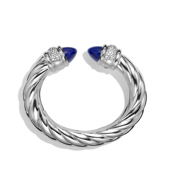 David Yurman Waverly Bracelet with Lapis Lazuli and Diamonds