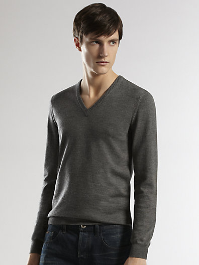 Gucci Web Detail V-Neck Sweater