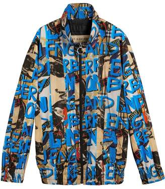 Burberry graffiti-print shell jacket