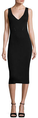 MICHAEL Michael Kors Sleeveless V-Neck Ribbed Sweater Dress $175 thestylecure.com