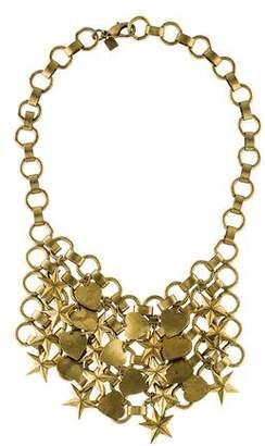 Dannijo Heart & Stars Bib Necklace