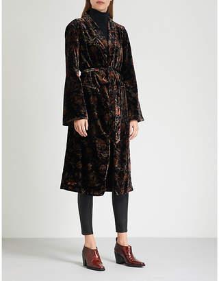 Paige Chrystin floral-pattern velvet jacket