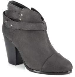 Rag & Bone Harrow Ankle-Strap Suede Booties