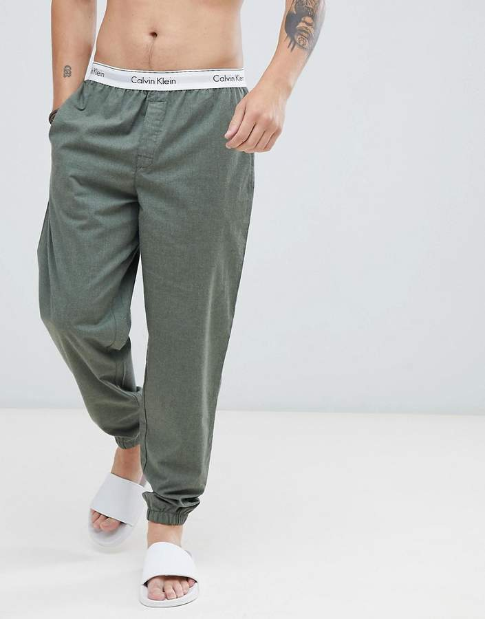 Calvin Klein Modern Cotton Woven Joggers with Cuffed Ankle