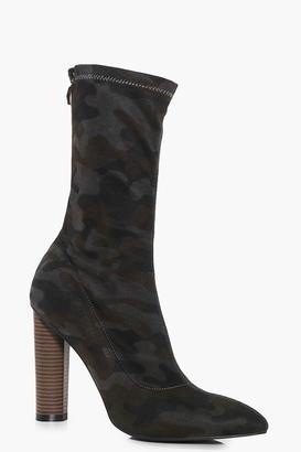 Bethany Camo Sock Boot