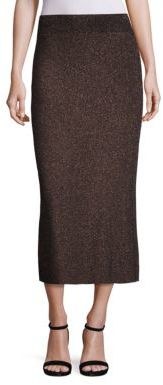 A.L.C. A.L.C. Cook Metallic Rib-Knit Midi Skirt