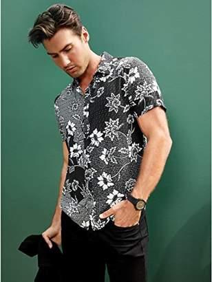 GUESS Men's Short Sleeve Rayon Batik Print Shirt