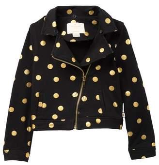 2b602b333ae Kate Spade dot faux fur moto jacket (Toddler   Little Girls)