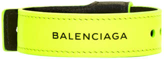 Balenciaga Yellow Leather Party Bracelet