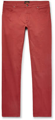 Tod's Slim-Fit Garment-Dyed Stretch-Cotton Twill Trousers