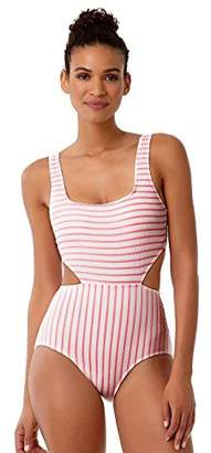 Anne Cole Women's Studio Striped Textured Sexy One Piece Swimsuit