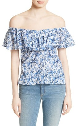 Women's Rebecca Taylor Off The Shoulder Top $225 thestylecure.com
