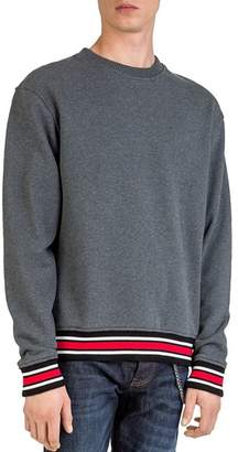The Kooples Striped-Border Sweatshirt