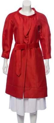 J. Mendel Silk Knee-Length Coat