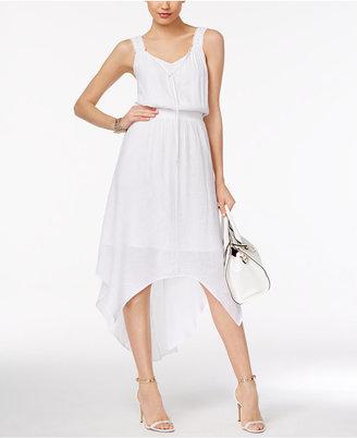 NY Collection Lace-Strap Handkerchief-Hem Dress $70 thestylecure.com