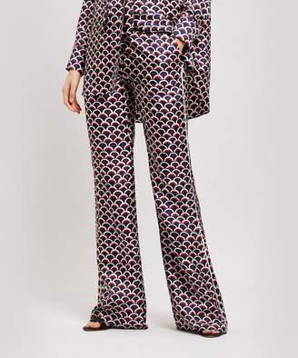 2cd691d87f Valentino Logo Scale Print Silk Pyjama Trousers