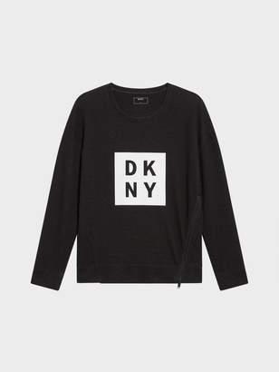 DKNY Doubleface Box Logo Sweatshirt