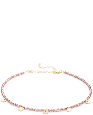 Shashi Crystal Disc Choker Necklace $50 thestylecure.com