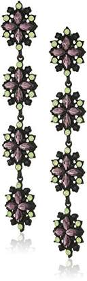 Steve Madden Flower Post Drop Earrings