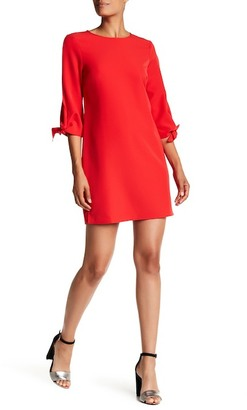 Charles Henry Knotted Sleeve Shift Dress $88 thestylecure.com