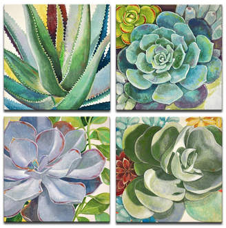 "Ready2hangart 'Botanical Bliss' 4 Piece Floral Canvas Wall Art Set, 48x48"""