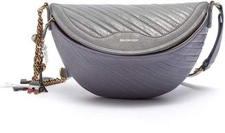 Balenciaga 'Souvenir XS' charm logo embossed leather bum bag