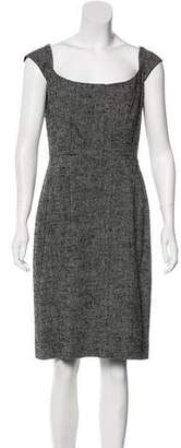 Narciso Rodriguez Linen And Silk Knee-Length Dress
