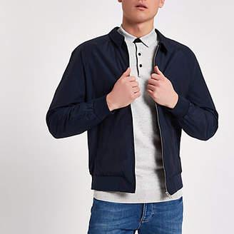 River Island Jack and Jones navy harrington jacket