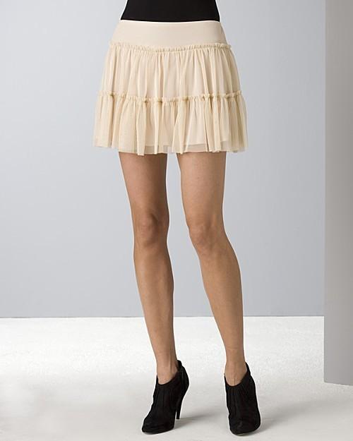 Aqua Women's Mesh Flippy Mini Skirt