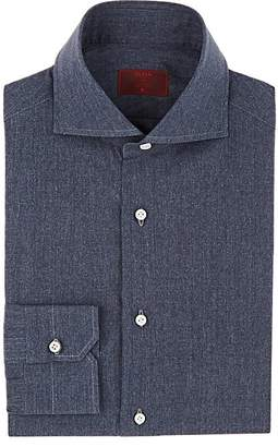 Isaia Men's Cotton Chambray Dress Shirt