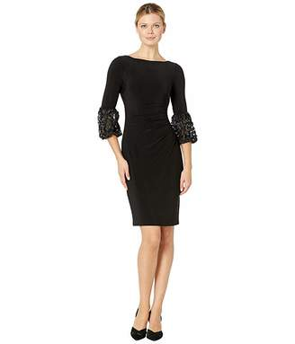 Lauren Ralph Lauren 1T Matte Jersey Vidella 3/4 Sleeve Day Dress