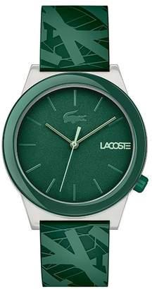 Lacoste Men's Motion Luminescent Case /Green Silicione Strap