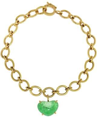 Irene Neuwirth Emerald Heart Chain Bracelet