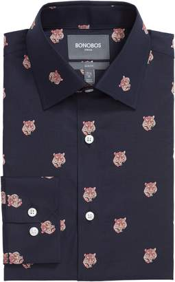 Bonobos Tiger Head Slim Fit Stretch Print Dress Shirt