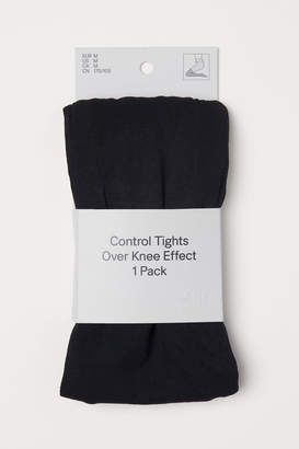 H&M Over-knee-look Tights - Black