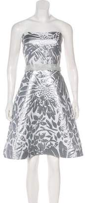 Peter Som Strapless Brocade Dress