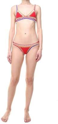 Kiini Kaia Crochet-trimmed Bikini Brief