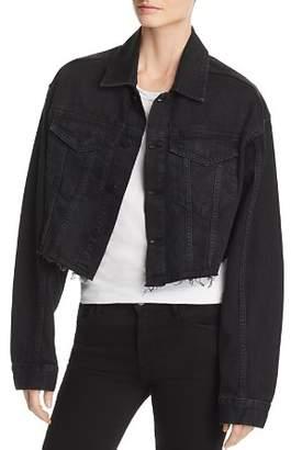 DL1961 Annie Cropped Denim Jacket in Blackburn